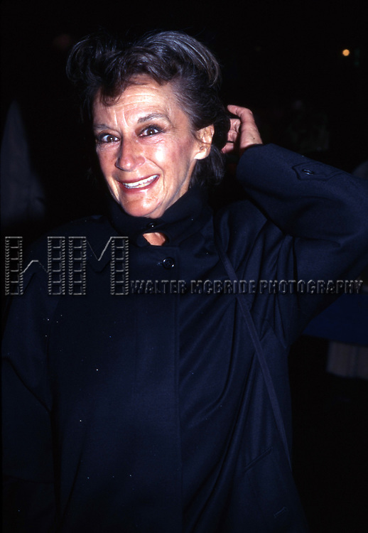 Zoe Caldwell on October 3, 1997 in New York City.