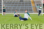 Brendan Kealy, Shane Enright, James O'Donoghue and Brian Kelly relaxing with the new Kerry training now available at the Kerry GAA store