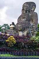 Bali, Gianyar. The huge baby monument where the roads to Ubud and Gianyar splits.