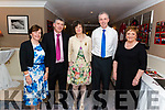 l-r Josephine O'Donoghue, Martin O'Keeffe, Mary Leahy, Denis O'Donoghue and Noreen Buckley all from Banteer pictured at the Banteer Macra 50th Anniversary in the Heights Hotel, Killarney last Saturday night.