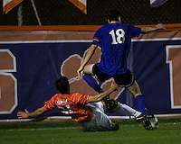 The number 24 ranked Furman Paladins took on the number 20 ranked Clemson Tigers in an inter-conference game at Clemson's Riggs Field.  Furman defeated Clemson 2-1.  Ara Amirkhanian (21), Michael Gandier (18)