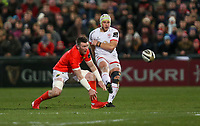 Friday 3rd January 2020 | Ulster Rugby vs Munster Rugby<br /> <br /> Luke Marshall puts a kick through during the PRO14 Round 10 inter-pro clash between Ulster and Munster at Kingspan Stadium, Ravenhill Park, Belfast, Northern Ireland.  Photo by John Dickson / DICKSONDIGITAL