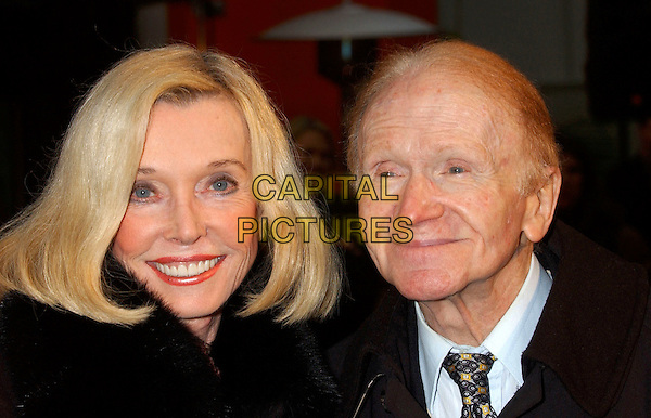 RED BUTTONS & WIFE.During the Jack Valenti Immortalized with Hand and Footprint Ceremony held at Grauman's Chinese Theatre, Hollywood, California, USA, .December 06 2004.portrait headshot.Ref: ADM.www.capitalpictures.com.sales@capitalpictures.com.©Laura Farr/AdMedia/Capital Pictures .