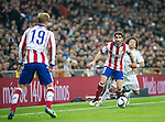 Atletico de Madrid spanish foward Raul Garcia and Real Madrid brasialian defender Marcelo during the king´s cup football match with Atletico de Madrid vs Real Madrid at the Santiago Bernabeu stadium in Madrid on Jaunary 15, 2015. Samuel de Roman / Photocall3000.