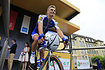 Marcel Kittel (GER) Quick-Step Floors at sign on in Dusseldorf before the start of Stage 2 of the 104th edition of the Tour de France 2017, running 203.5km from Dusseldorf, Germany to Liege, Belgium. 2nd July 2017.<br /> Picture: Eoin Clarke | Cyclefile<br /> <br /> <br /> All photos usage must carry mandatory copyright credit (&copy; Cyclefile | Eoin Clarke)