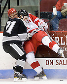 Chris Rooney (Providence - 21), Adam Clendening (BU - 4) - The Boston University Terriers defeated the visiting Providence College Friars 2-1 on Saturday, October 23, 2010, at Agganis Arena in Boston, Massachusetts.