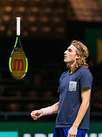 Rotterdam, The Netherlands, 12 Februari 2019, ABNAMRO World Tennis Tournament, Ahoy, first round singles: Stefanos Tsisipas, Practice,<br /> Photo: www.tennisimages.com/Henk Koster