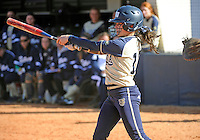Florida International University outfielder Erika Arcuri (12) plays against the University of Illinois.  FIU won the game 8-0 on February 12, 2012 at Miami, Florida. .