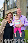 FAMILY: Marnice,Rory and Daisy O'Sullivan of Ballyseedy Castle Hotel, who hosted the Chapterhouse Theatre Company Shakespearian play A Midsummer Night's Dream on the grounds of the Castle on Sunday evening.............................................. ....