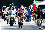 Race leader Maglia Rosa Tom Dumoulin (NED) Team Sunweb in action during Stage 19 of the 100th edition of the Giro d'Italia 2017, running 191km from San Candido/Innichen to Piancavallo, Italy. 26th May 2017.<br /> Picture: LaPresse/Fabio Ferrari   Cyclefile<br /> <br /> <br /> All photos usage must carry mandatory copyright credit (&copy; Cyclefile   LaPresse/Fabio Ferrari)
