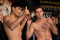 Montreal (QC) CANADA- Dec 10 2009- Official Weighting before Dec 11 Fight :Ramon Pedro Moyano <br /> ,Eric Lucas
