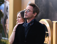"""11 January 2020 - Westwood, California - Susan Downey, Robert Downey Jr.. Premiere Of Universal Pictures' """"Dolittle"""" held at the Regency Village Theatre. Photo Credit: Billy Bennight/AdMedia"""