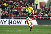 Mario Vrancic of Norwich City gets the better of Jamie Paterson of Bristol City during Bristol City vs Norwich City, Sky Bet EFL Championship Football at Ashton Gate on 13th January 2018