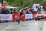 Marco Haller (AUT) Team Katusha Alpecin in action during Stage 1, a 14km individual time trial around Dusseldorf, of the 104th edition of the Tour de France 2017, Dusseldorf, Germany. 1st July 2017.<br /> Picture: Eoin Clarke | Cyclefile<br /> <br /> <br /> All photos usage must carry mandatory copyright credit (&copy; Cyclefile | Eoin Clarke)