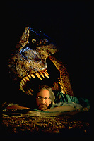 Jurassic Park (1993)<br /> Behind the scenes photo of Steven Spielberg<br /> *Filmstill - Editorial Use Only*<br /> CAP/KFS<br /> Image supplied by Capital Pictures