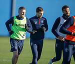 04.02.2020 Rangers training: Steven Davis with Jon Flanagan and Connor Goldson