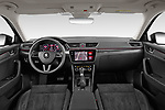 Stock photo of straight dashboard view of 2020 Skoda Superb 5 Door Wagon Dashboard