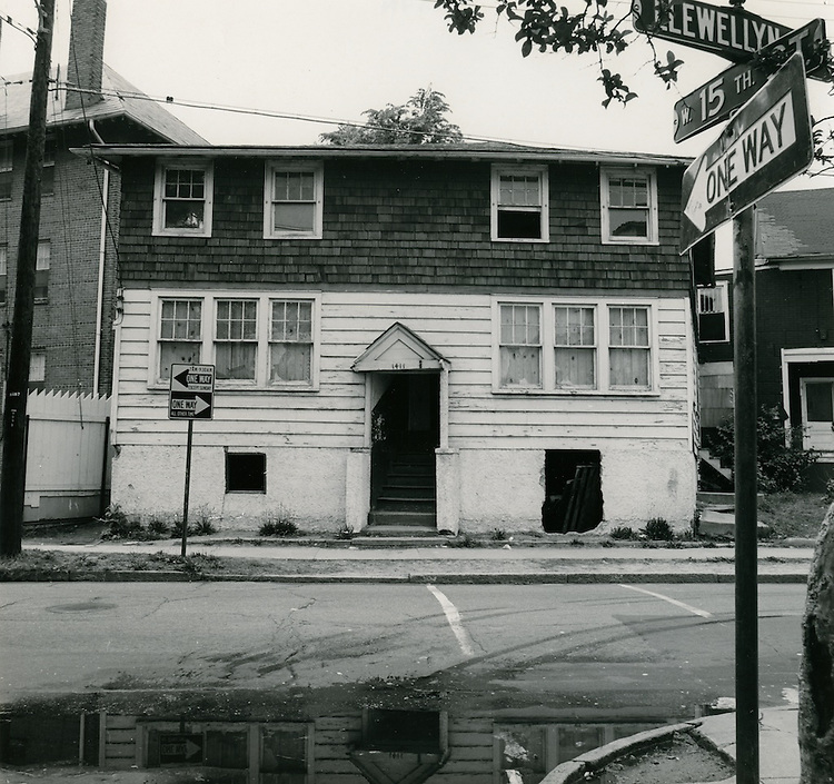 1968 May 15..Redevelopment...E Ghent North (A-1-2) R55..#1411 Llewellyn Avenue (west side).taken fron intersection of 15th & Llewellyn..Sam McKay.NEG# SLM68-39-23.NRHA#4052..