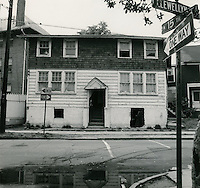 1968 May 15..Redevelopment...E Ghent North (A-1-2) R55..#1411 Llewellyn Avenue (west side).taken fron intersection of 15th & Llewellyn..Sam McKay.NEG# SLM68-39-23.NRHA#4052..