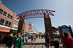 Sign over the entrance to Navy Pier, Chicago, IL, USA