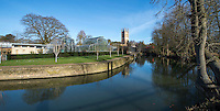 BNPS.co.uk (01202 558833)<br /> Pic: PhilYeomans/BNPS<br /> <br /> Magdalen college and the Botanical gardens in Oxford today.<br /> <br /> 'Old man river, he just keeps rollin' - A remarkable collection of panoramic photographs of the Thames taken 160 years ago have emerged for auction, and they reveal how little the famous old river has changed in the last century and a half.<br /> <br /> They follow the river from London to Oxford in 40 photographs providing a fascinating insight into how the famous river looked in the mid-19th century.<br /> <br /> Londoner Victor Prout started photographing the Thames in 1857 using a camera which would produce wide-vision images because of a lens that swung round and 'scanned' sections of the picture.<br /> <br /> This rare complete copy of the first edition of Prout's pioneering panoramics has emerged for auction and is tipped to sell for &pound;12,000 when they go under the hammer at Bonhams on March 1.