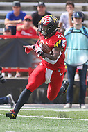 College Park, MD - September 15, 2018: Maryland Terrapins running back Ty Johnson (24) runs the ball during the game between Temple and Maryland at  Capital One Field at Maryland Stadium in College Park, MD.  (Photo by Elliott Brown/Media Images International)