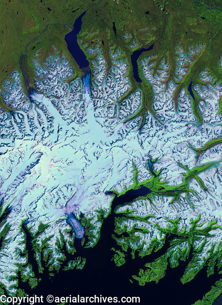 satellite image of Valdez, Alaska