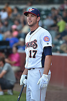 Tennessee Smokies third baseman Kris Bryant #17 during the Southern League Home Run Derby at Engel Stadium on June 16, 2014 in Chattanooga, Tennessee.  (Tony Farlow/Four Seam Images)