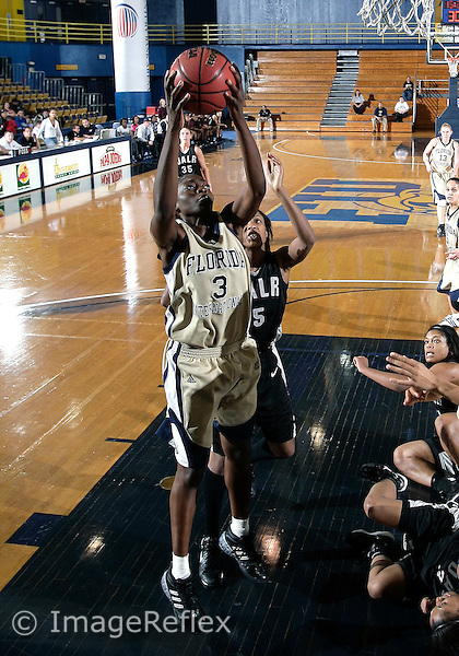 Florida International University women's basketball forward Jasmine Jenkins (3) plays against the University of Arkansas Little Rock. UALR won the game 62-51 on January 31, 2009 at Miami, Florida. .