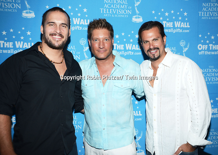 Erik Aude, Sean Kanan and Paulo Benedeti attends the Gifting Suitefor the Daytime Emmy Awards by Off The Wall Productions on June 15, 2013 at the Beverly Hills Hotel in Beverly Hills, California.