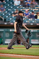 Umpire Brian Peterson during an International League game between the Norfolk Tides and Buffalo Bisons on June 22, 2019 at Sahlen Field in Buffalo, New York.  Buffalo defeated Norfolk 3-0.  (Mike Janes/Four Seam Images)