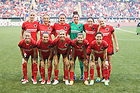 Portland, Oregon - Sunday April 17, 2016: The Portland Thorns play the Orlando Pride during a regular season NWSL match at Providence Park. The Thorns won 2-1.