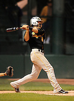 Jun. 1, 2010; Grand Junction, CO, USA; Southern Nevada Coyotes right fielder Bryce Harper hits a three run home run in the sixth inning against Iowa Western C.C. during the Junior College World Series as Suplizio Field. Southern Nevada won the game 12-7. Mandatory Credit: Mark J. Rebilas-