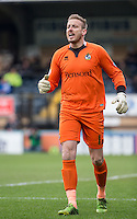 Goalkeeper Steve Mildenhall of Bristol Rovers during the Sky Bet League 2 match between Wycombe Wanderers and Bristol Rovers at Adams Park, High Wycombe, England on 27 February 2016. Photo by Andy Rowland.