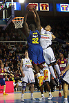 Jawai vs Batiste. FC Barcelona Regal vs Fenerbahce Ulker: 100-78 - Top 16 - Game 1.