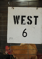 NWA Democrat-Gazette/ANDY SHUPE<br /> A buff orpington hen watches Thursday, Sept. 3, 2015, from her pen during the Washington County Fair at the county fairgrounds in Fayetteville.