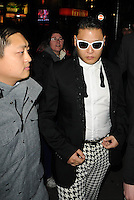 Gangnam Style! International singing phenomenon, Psy,arrives at Dstrkt club in the West End to play a set. London, UK. 08/11/2012.<br /> (Photo: BlueStar/NortePhoto)