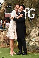 Lucy Dahl &amp; Mark Rylance at the UK premiere of 'The BFG' at the Odeon Leicester Square, London.<br /> July 17, 2016  London, UK<br /> Picture: Steve Vas / Featureflash