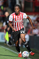 Romaine Sawyers of Brentford in action during Brentford vs Wigan Athletic, Sky Bet EFL Championship Football at Griffin Park on 15th September 2018