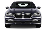 Car photography straight front view of a 2017 BMW 7 Series 740i 4 Door Sedan Front View