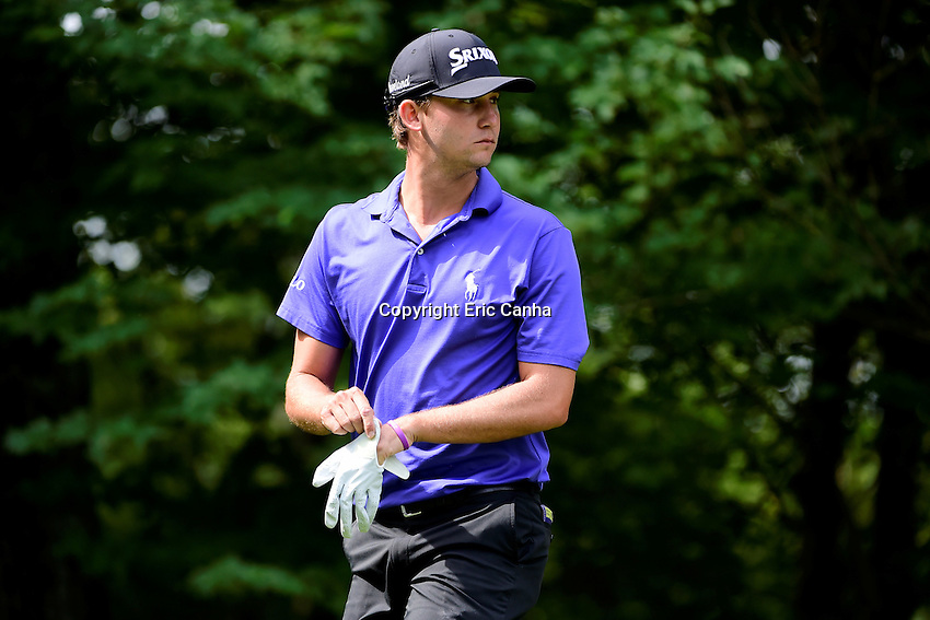 Saturday, September 3, 2016:  Smylie Kaufman walks to the 9th tee box during the second round of the Deutsche Bank Championship tournament held at the Tournament Players Club, in Norton, Massachusetts.  Eric Canha/Cal Sport Media