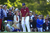 Patrick Reed (Team USA) on the 12th green during Saturday afternoon Fourball at the Ryder Cup, Hazeltine National Golf Club, Chaska, Minnesota, USA.  01/10/2016<br /> Picture: Golffile | Fran Caffrey<br /> <br /> <br /> All photo usage must carry mandatory copyright credit (&copy; Golffile | Fran Caffrey)