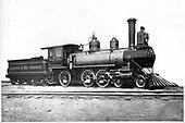 Builder's photo of D&amp;RG locomotive #166 built in 1883.  Baldwin Locomotive Works #6664.<br /> D&amp;RG  Philadelphia ?, PA  1883