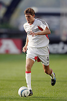 D.C. United's Brandon Prideaux. The New England Revolution and D.C. United finished in a scoreless tie in MLS play at Gillette Stadium, Foxboro, MA on Saturday August 28, 2004.