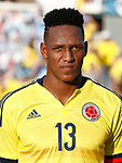 Colombia's Yerri Mina during international friendly match. June 13,2017.(ALTERPHOTOS/Acero)