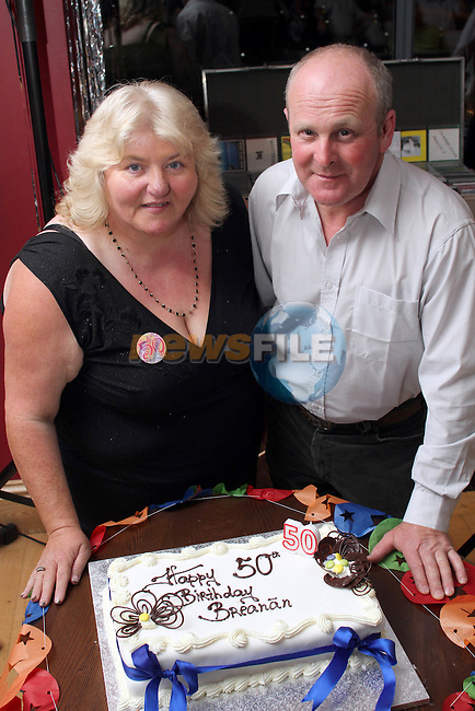 Breanan Rice with her Husband Pat at her 50th in The Thatch...Picture Jenny Matthews/Newsfile.ie