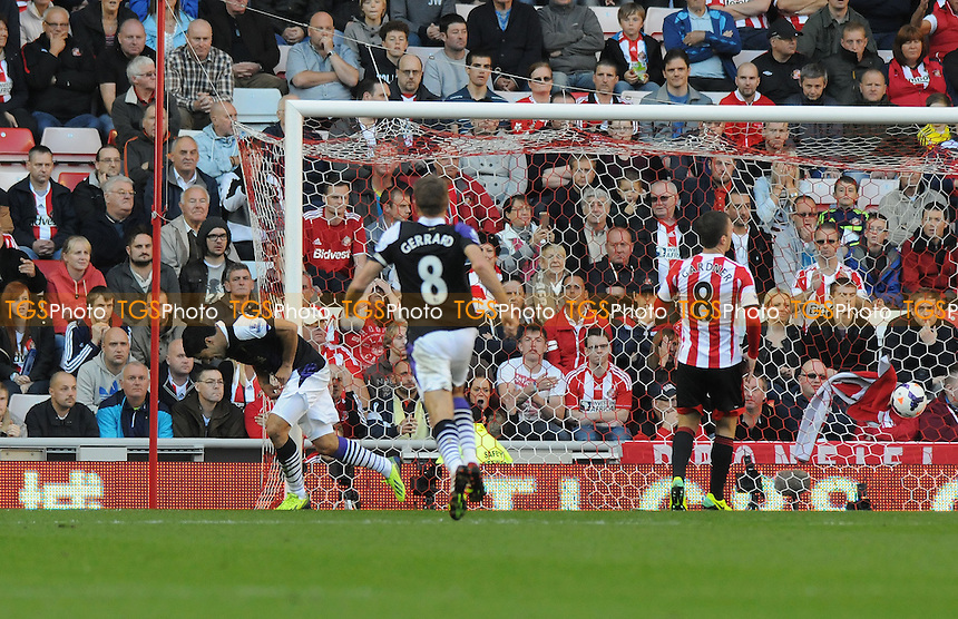 Luis Su&aacute;rez of Liverpool scores Liverpool's second - Sunderland vs Liverpool - Barclays Premier League Football at the Stadium of Light, Sunderland - 29/09/13 - MANDATORY CREDIT: Steven White/TGSPHOTO - Self billing applies where appropriate - 0845 094 6026 - contact@tgsphoto.co.uk - NO UNPAID USE<br />   i