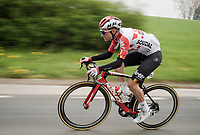 Tosh Van der Sande (BEL/Lotto-Soudal) speeding on<br /> <br /> 59th De Brabantse Pijl - La Flèche Brabançonne 2019 (1.HC)<br /> One day race from Leuven to Overijse (BEL/196km)<br /> <br /> ©kramon