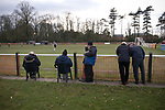Euxton Villa 1 Haslingden St. Mary's 1, 13/02/2010. Jim Fowler Memorial Ground, West Lancashire Football League. Spectators watching as Euxton Villa take on visitors Haslingden St. Mary's in a West Lancashire Football League fixture at the Jim Fowler Memorial ground in Euxton, near Chorley. The game ended in a one-all draw. The league was formed in 1904, although 1905-06 was the first season and sits at step seven of the pyramid system. Photo by Colin McPherson.
