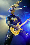 Guitarist ZOLTAN BATHORY of Five Finger Death Punch performs live at Riverbend Music Center in Cincinnati, Ohio on October 17, 2010.